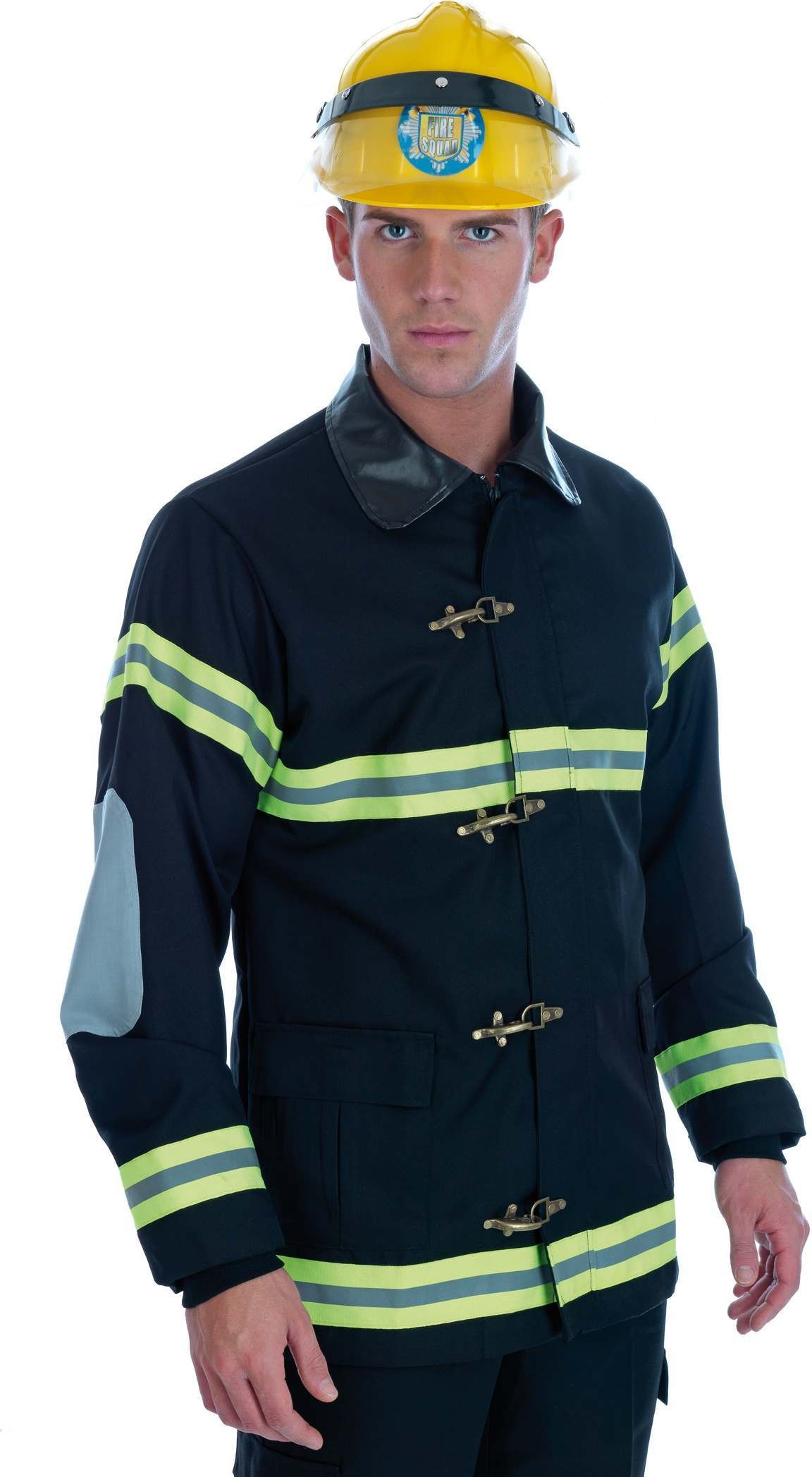 Fireman Costume Male Fancy Dress Costume Mens (Fire Service , Hen & Stag)