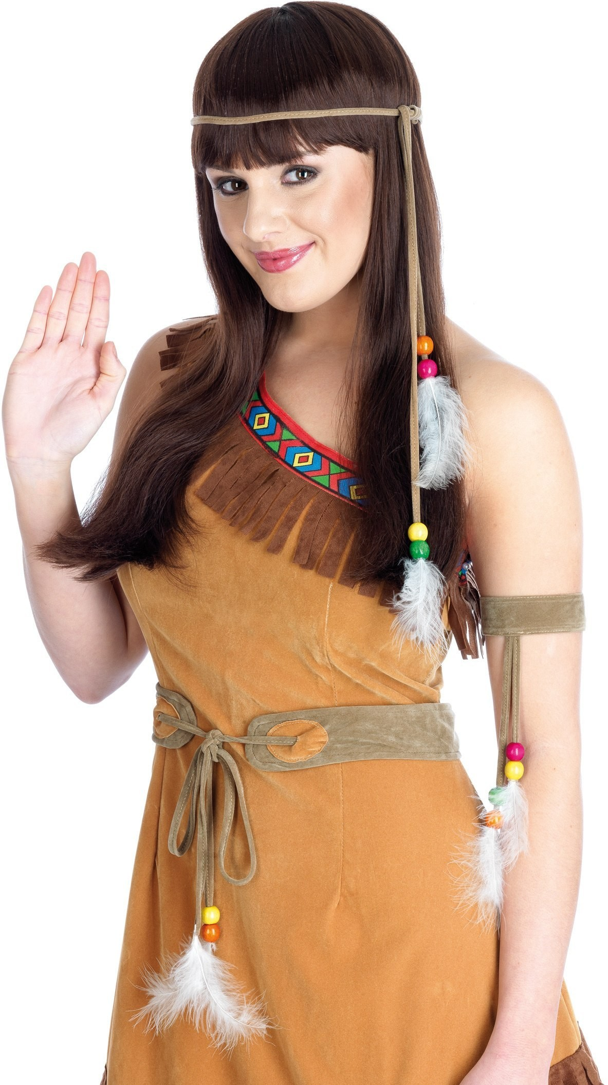 Native American Girl Costume Fancy Dress Costume Ladies (Cowboys/Native Americans)