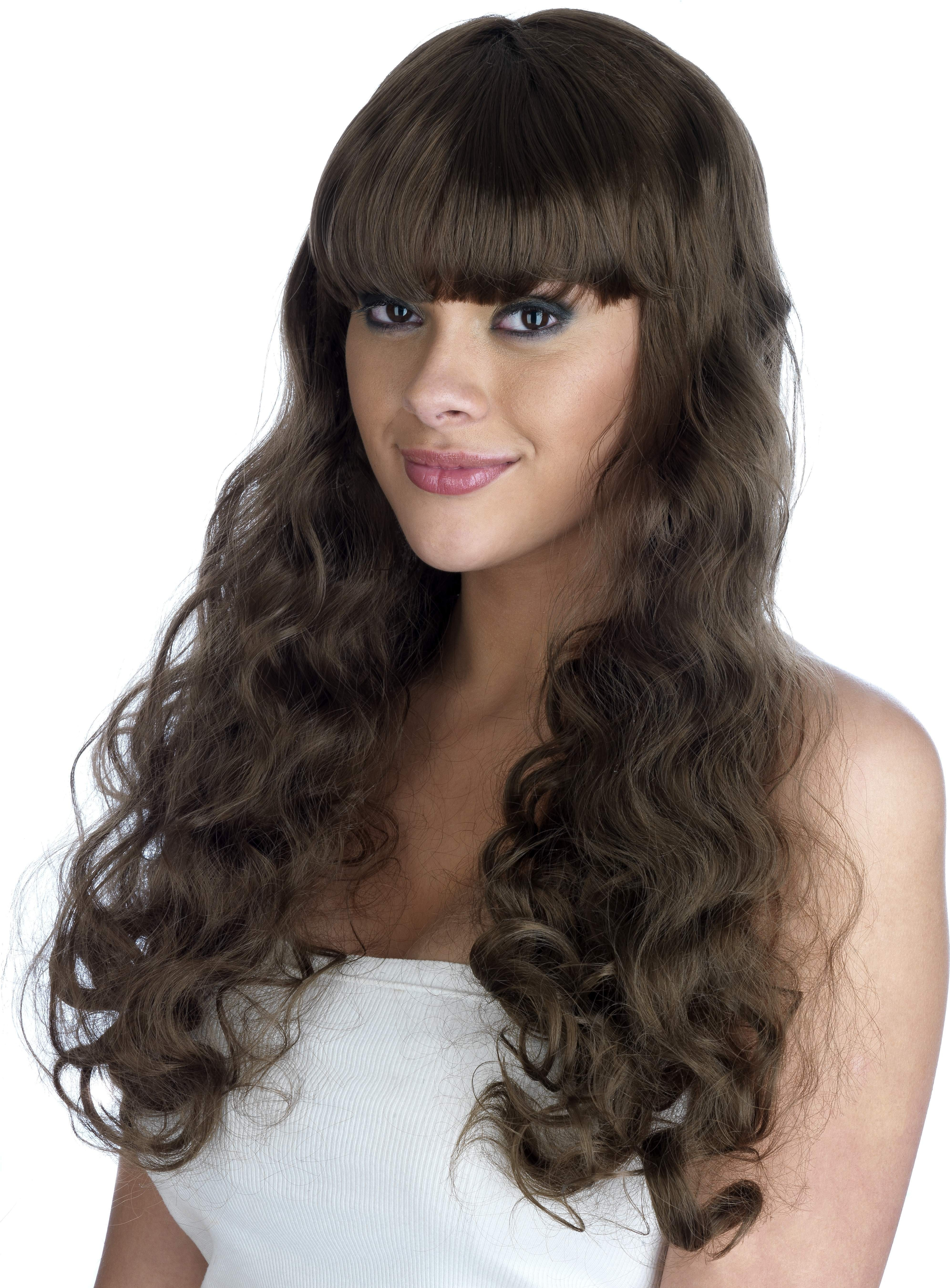 Brown  Pin Up Girl Wig (Pet) (180G) One Size Ladies (1950S)