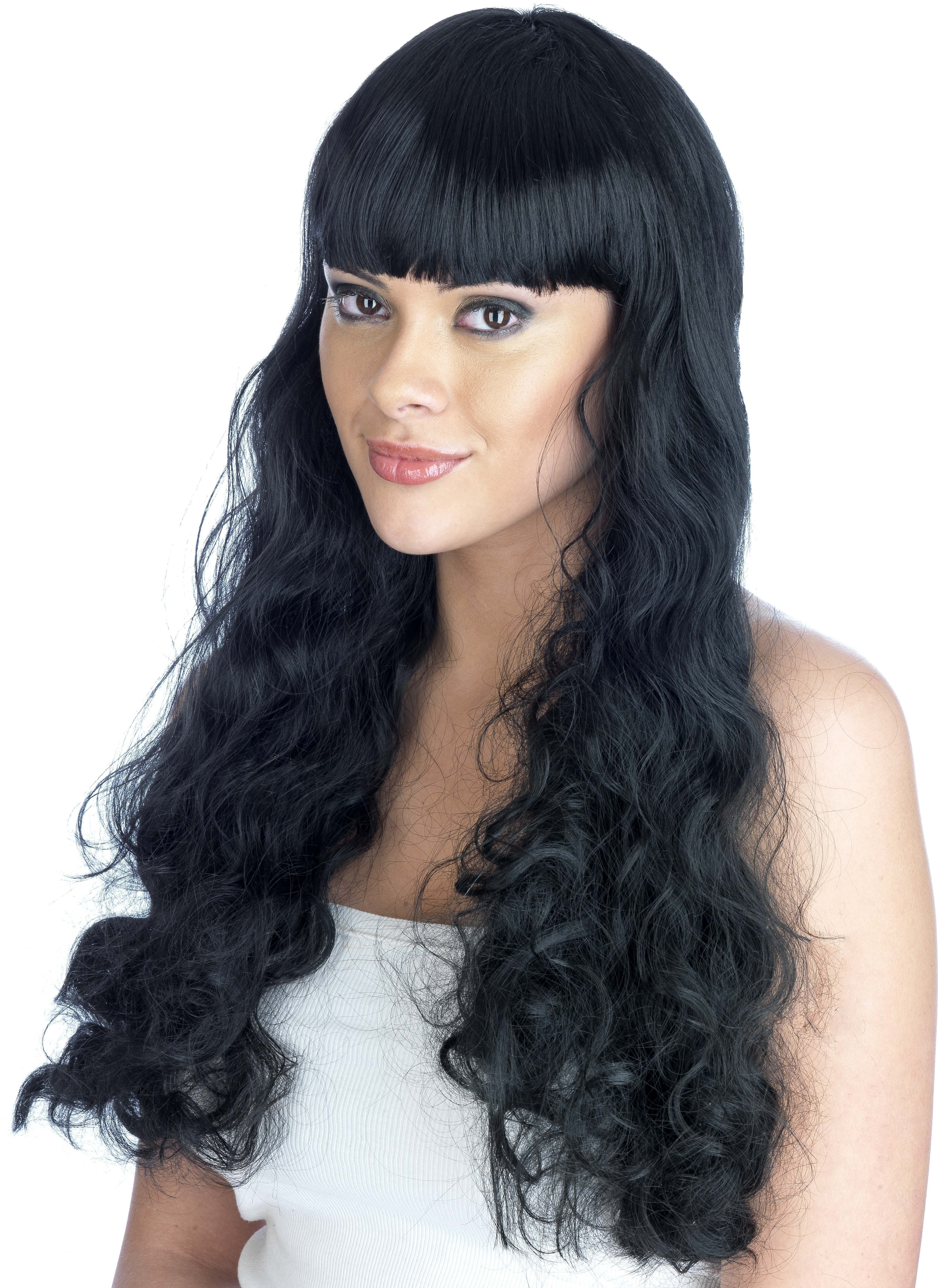 Black  Pin Up Girl Wig (Pet) (180G) One Size Ladies (1950S)