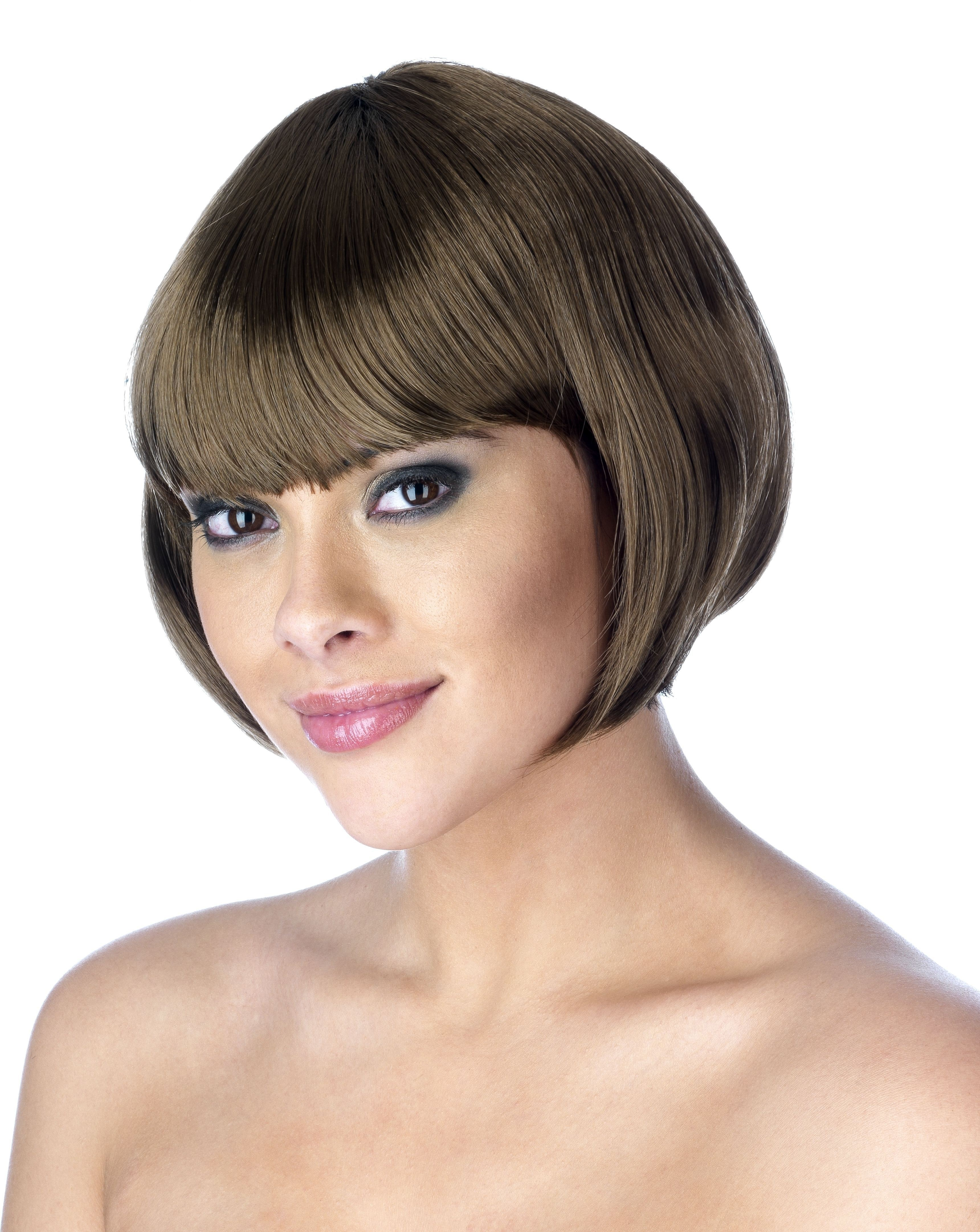 Brown Bob Wig (Pet0 (95G) One Size Ladies (1920S)