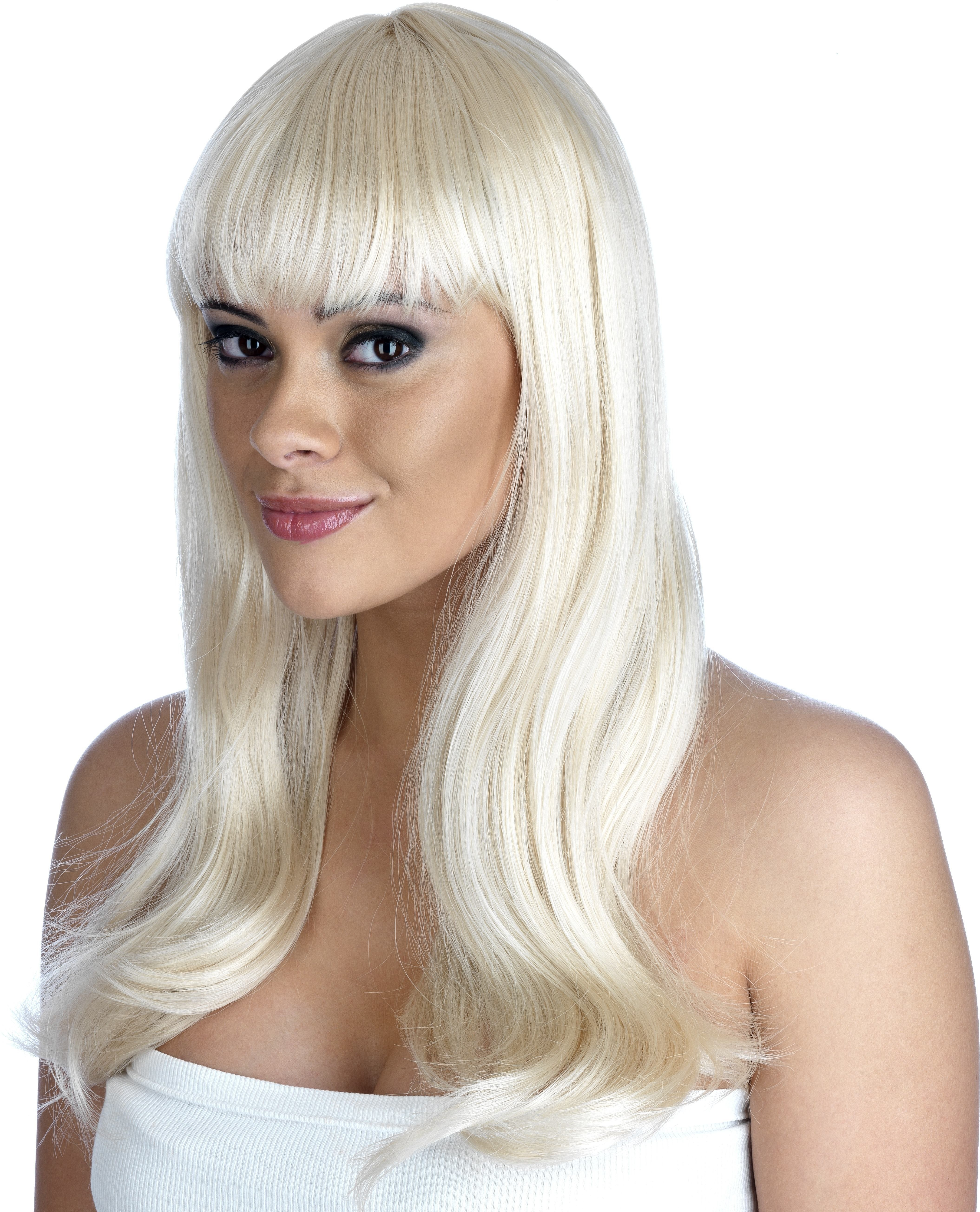 Blonde Fringe Wig (Pet) (110G) One Size Ladies (1920S)
