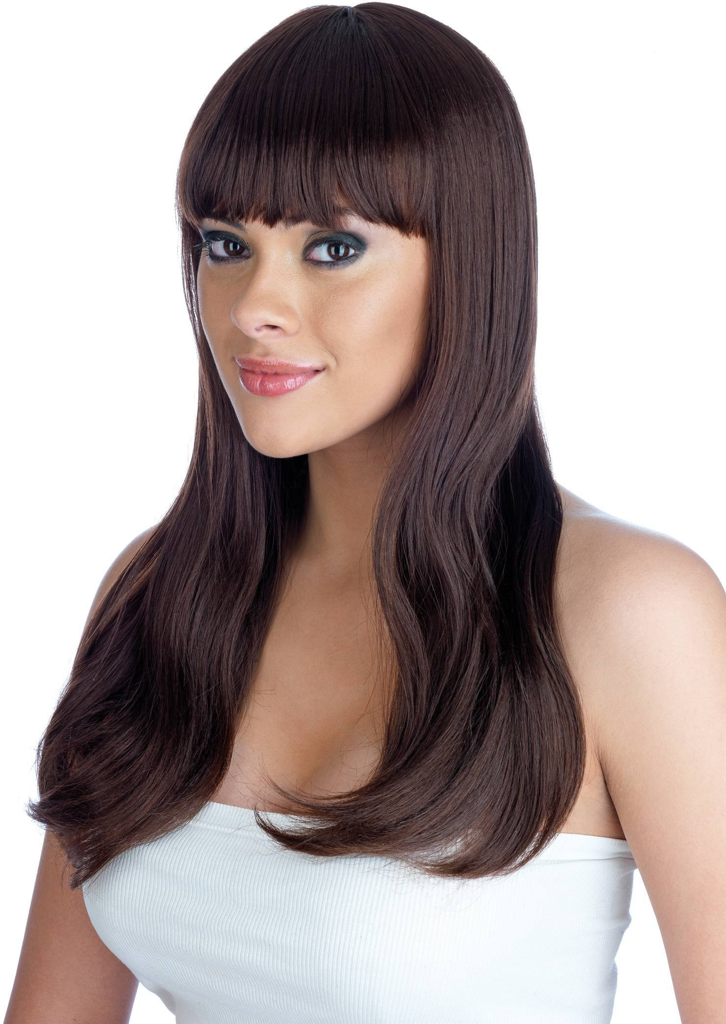 Brown Fringe Wig (Pet) (110G) One Size Ladies (1920S)