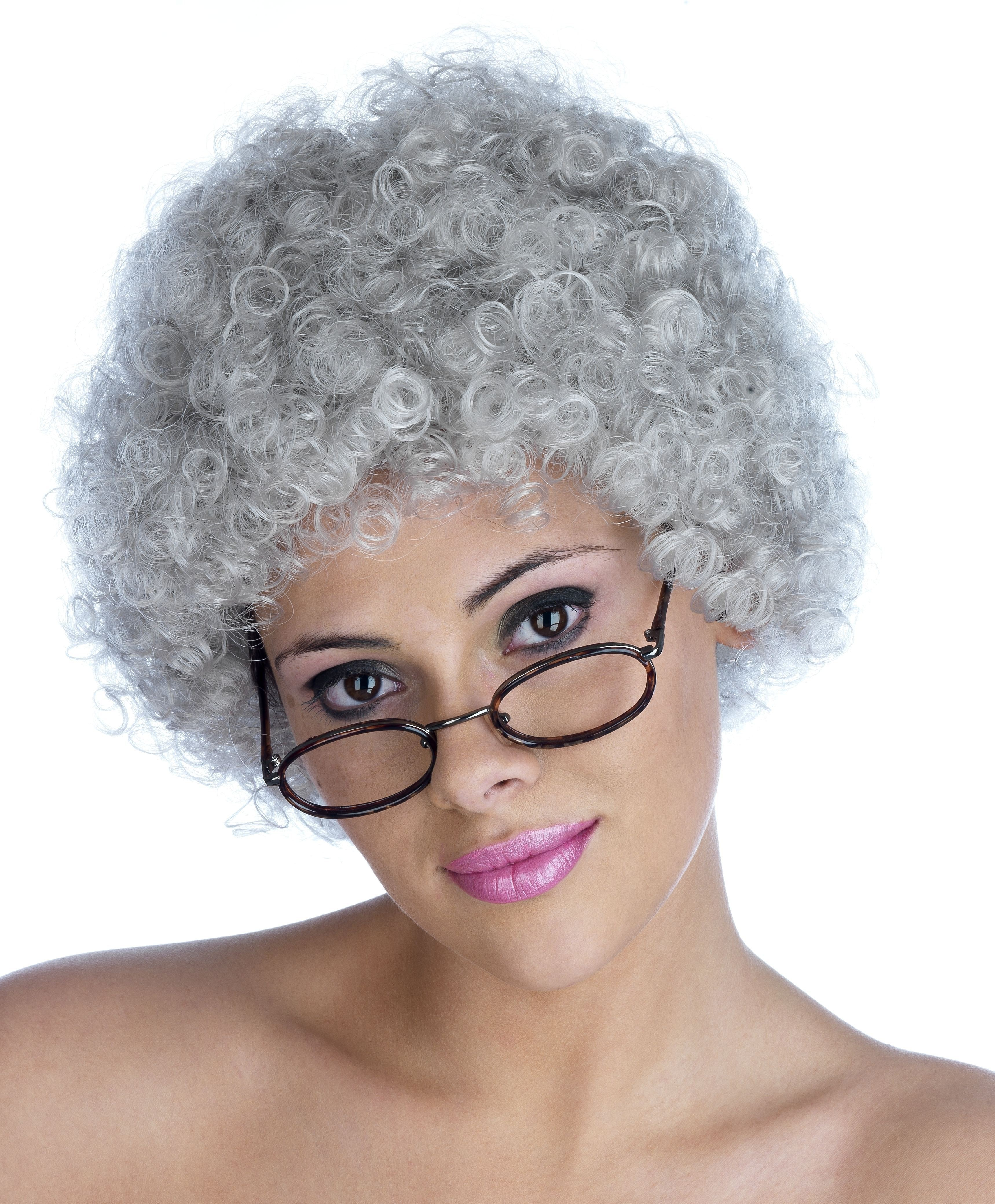 Grey Pop Wig One Size (Music)