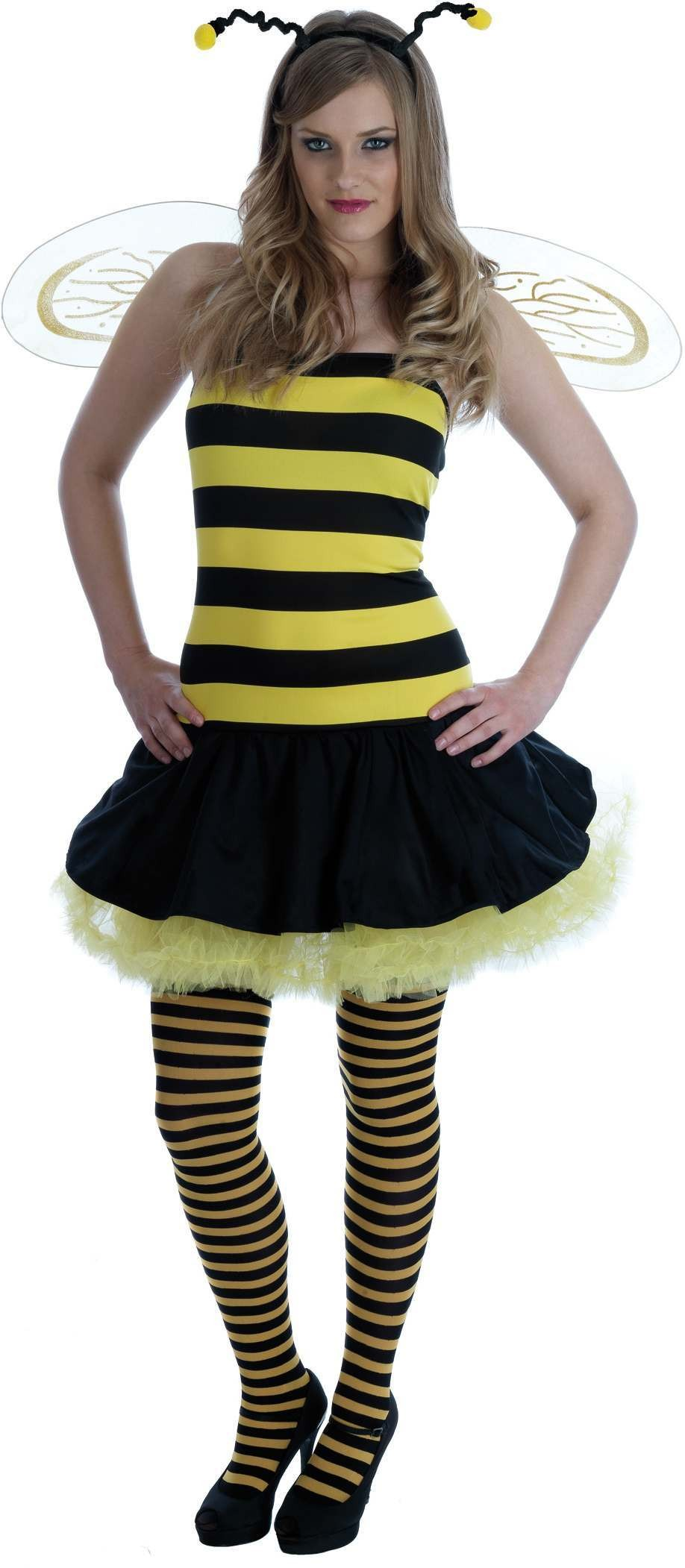 Adult Bee Dress (New Queen Bee) Fancy Dress Costume (Animals)