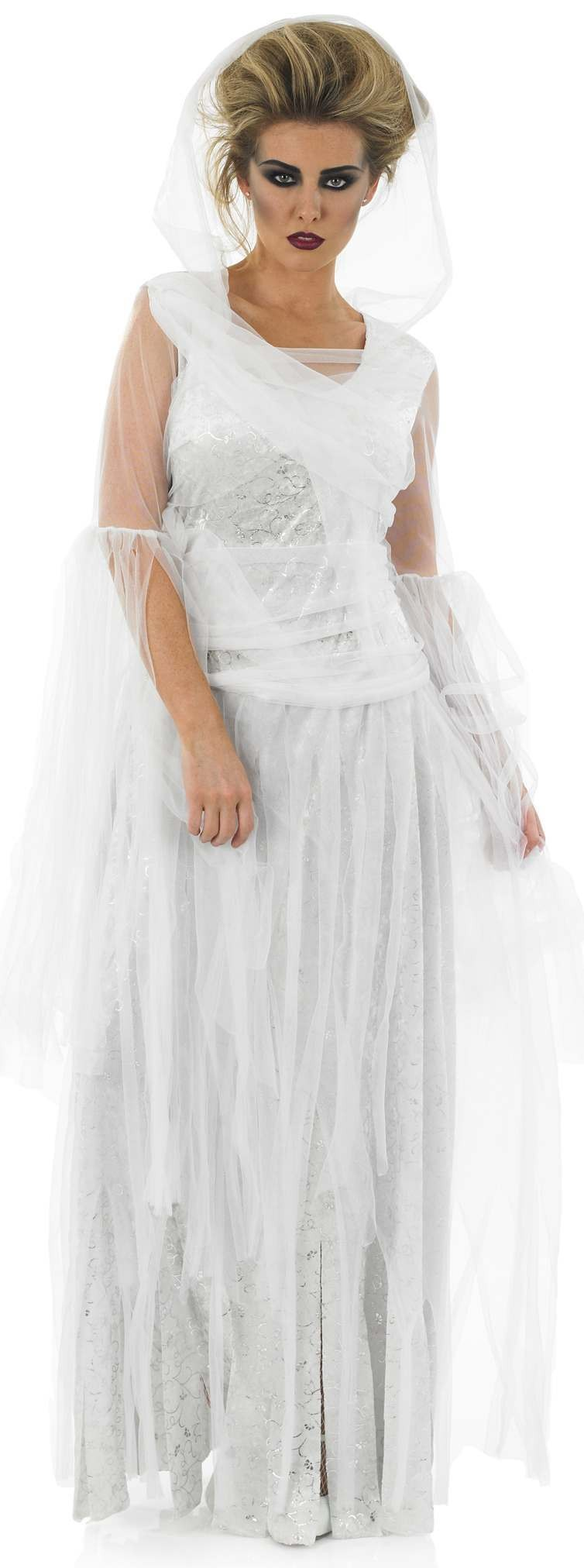 Ladies White (White Haunting Ghost)Fancy Dress Costume