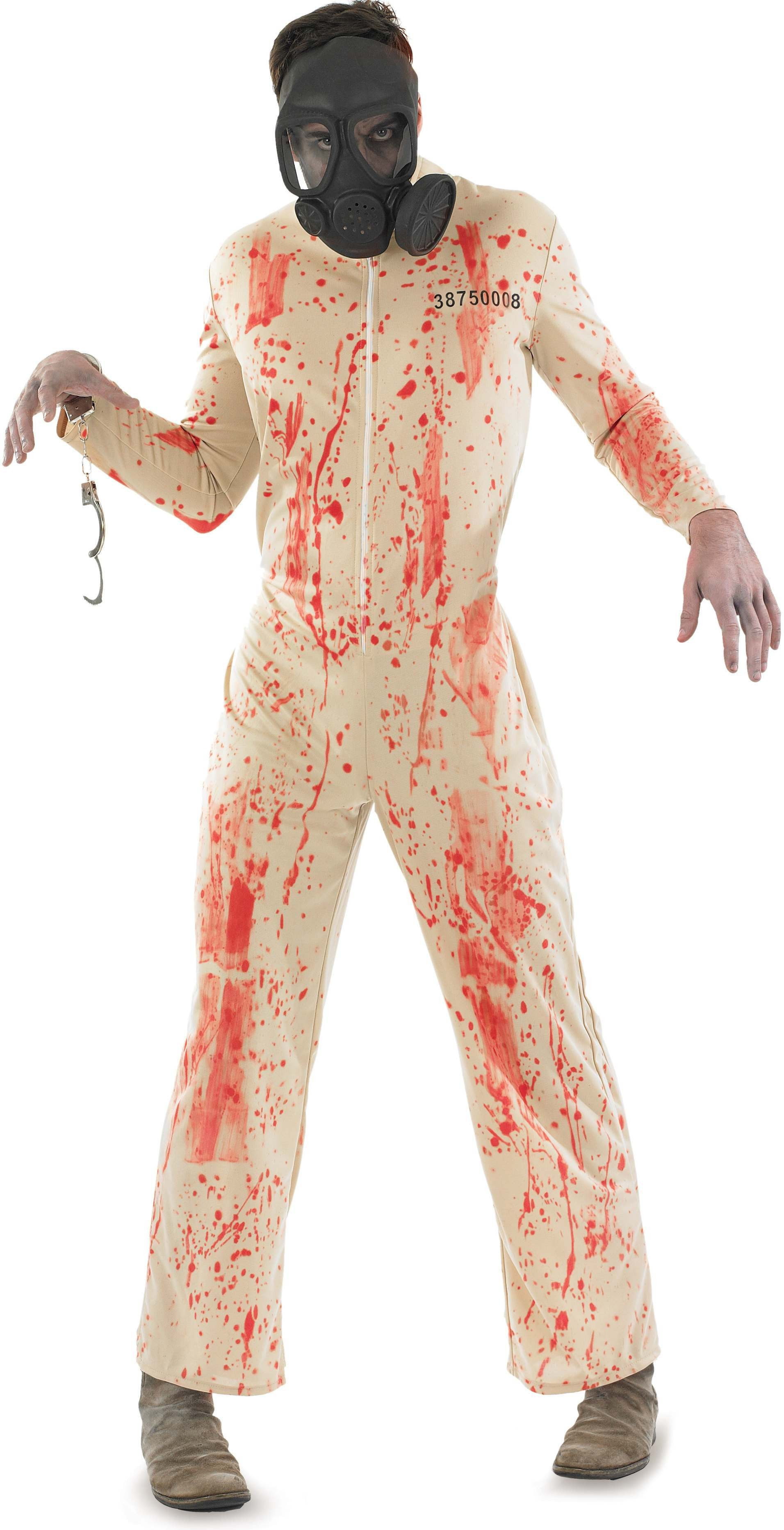 Mens White (Zombie Prisoner Male)Fancy Dress Costume