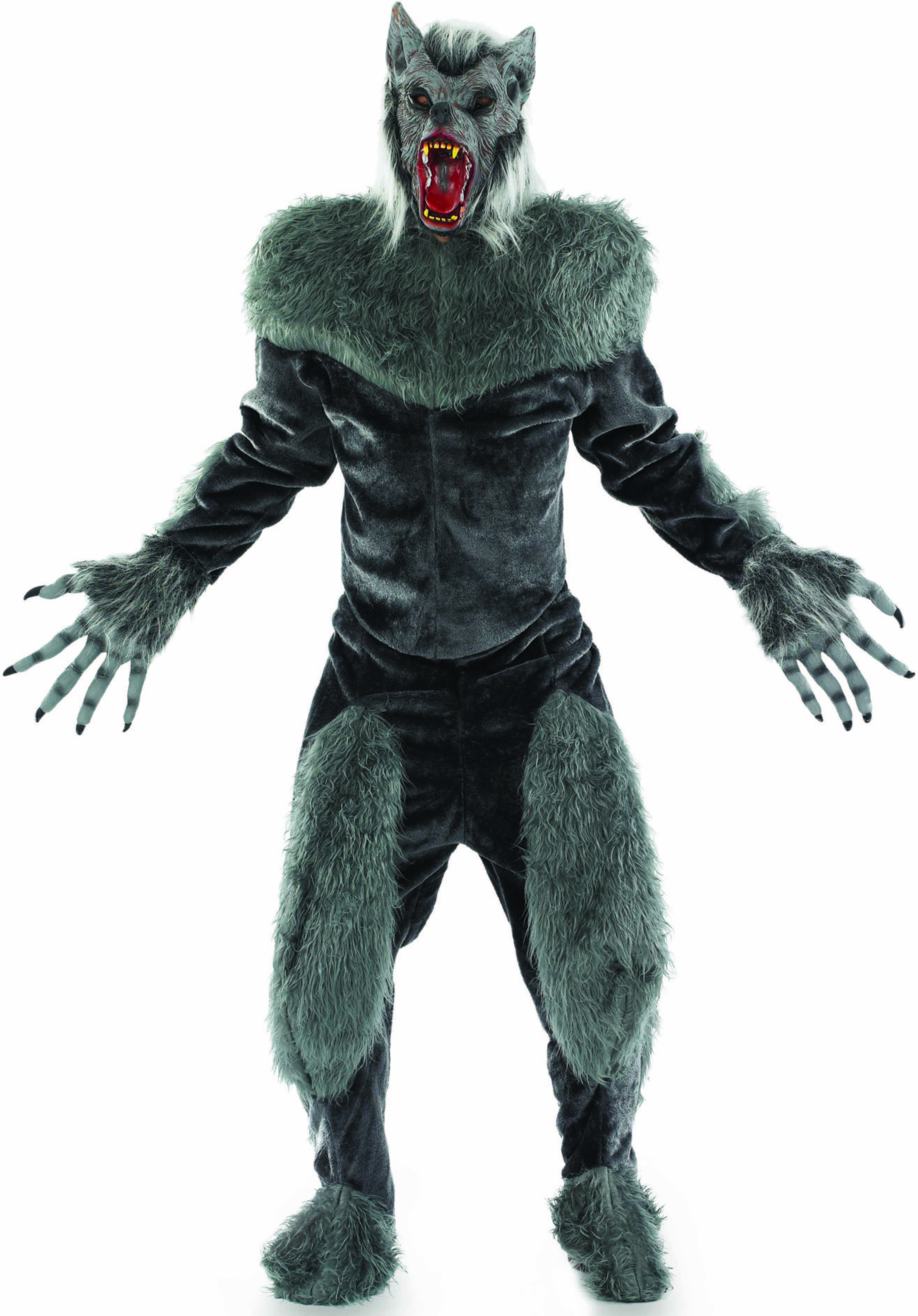 Mens Grey (Werewolf Suit)Fancy Dress Costume