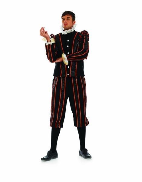 Mens Historical Tudor Earl Fancy Dress Costume