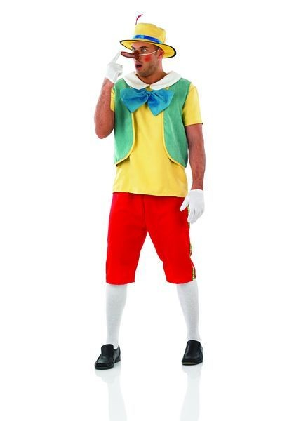 Mens Fairytale Wodden Puppet Boy Fancy Dress Costume