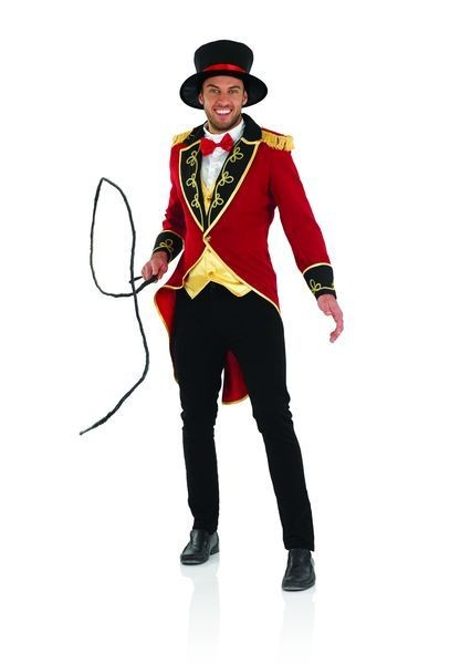 Mens Circus Ringmaster Fancy Dress Costume
