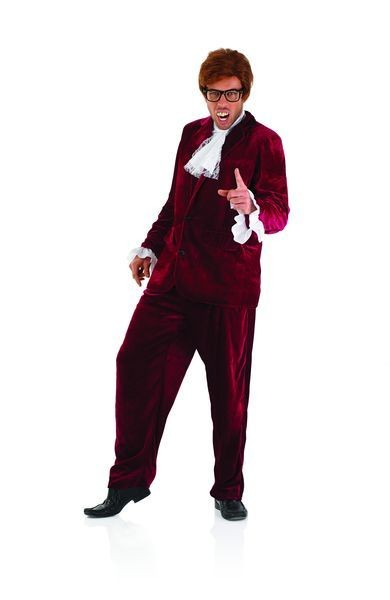 Mens Yea Baby Red 60S Gigolo Agent Fancy Dress Costume