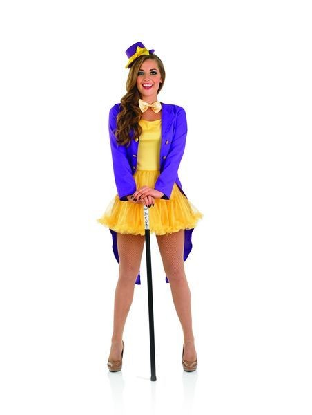 Ladies Chocolate Factory Owner Fancy Dress Costume
