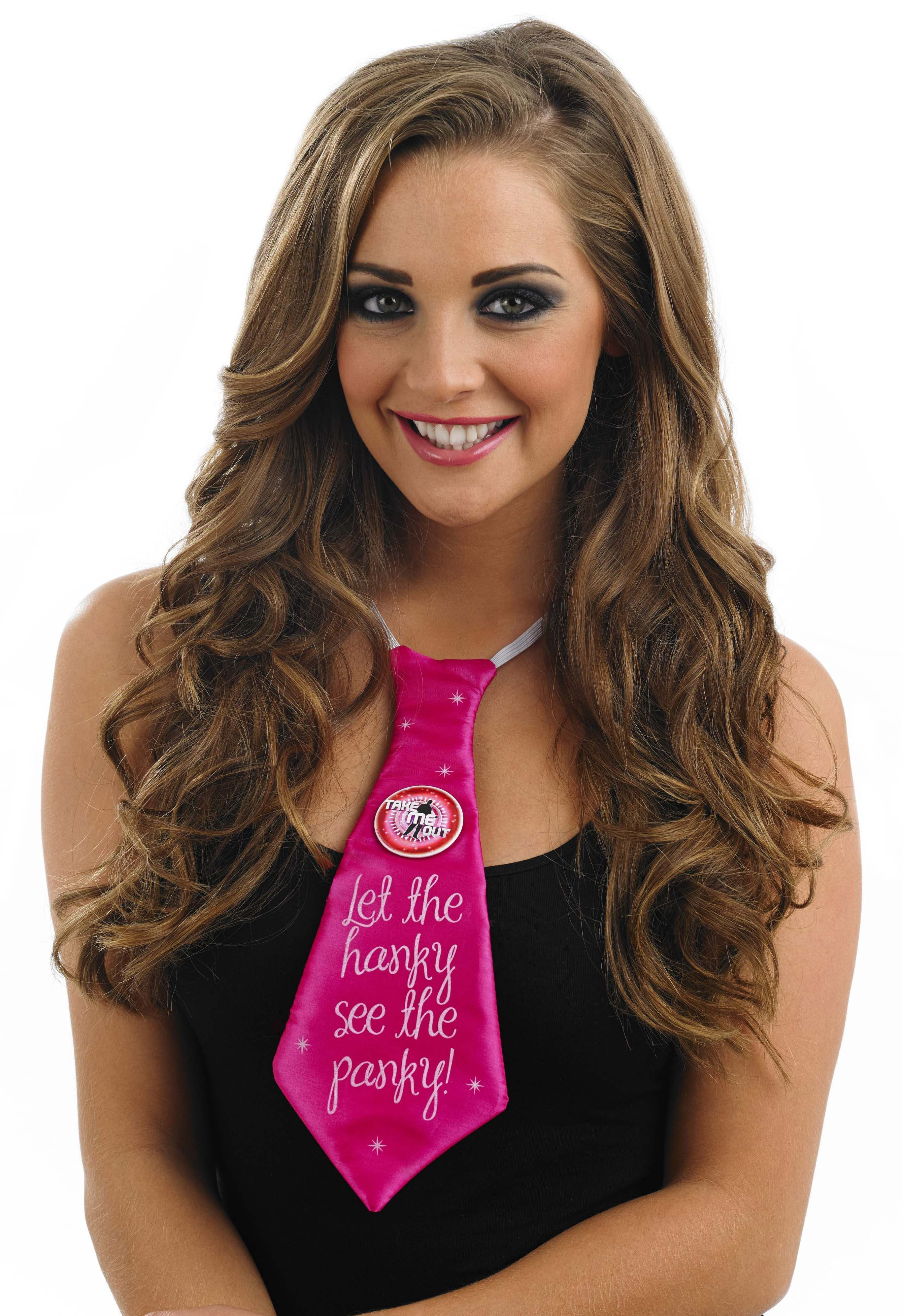 Take Me Out Hen Party Accessory Let The Hanky See The Panky Tie