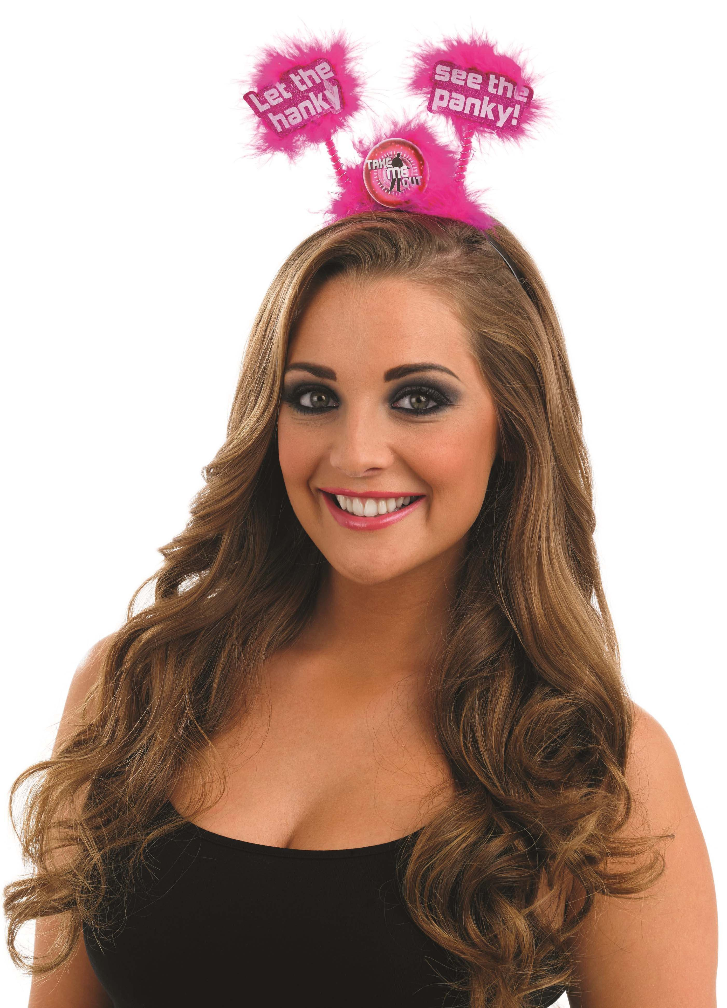 Take Me Out Hen Party Accessory Let The Hanky See The Panky Head Boppers