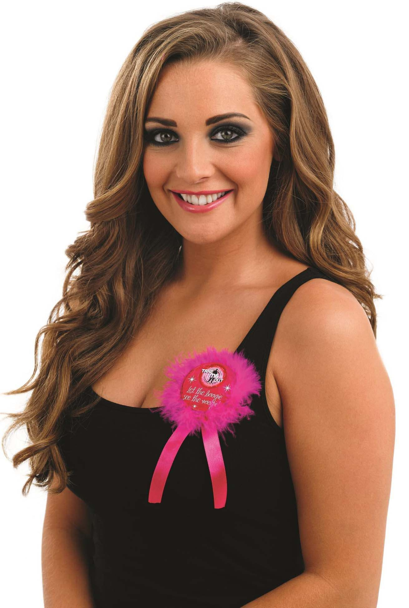 Take Me Out Hen Party Accessory Let The Boogie See The Woogie Rosette Badge