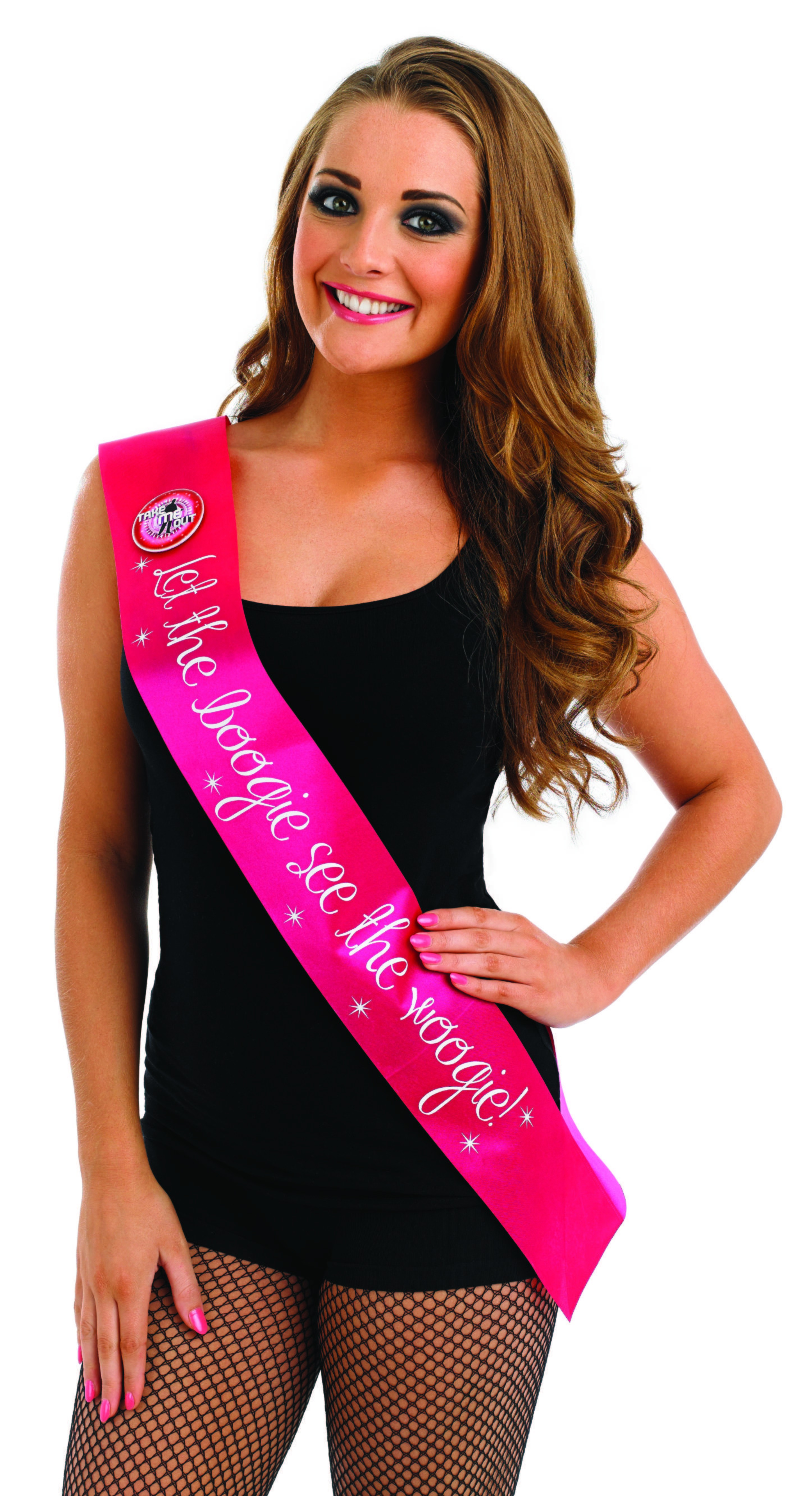 Take Me Out Hen Party Accessory Let The Boogie See The Woogie Flashing Sash