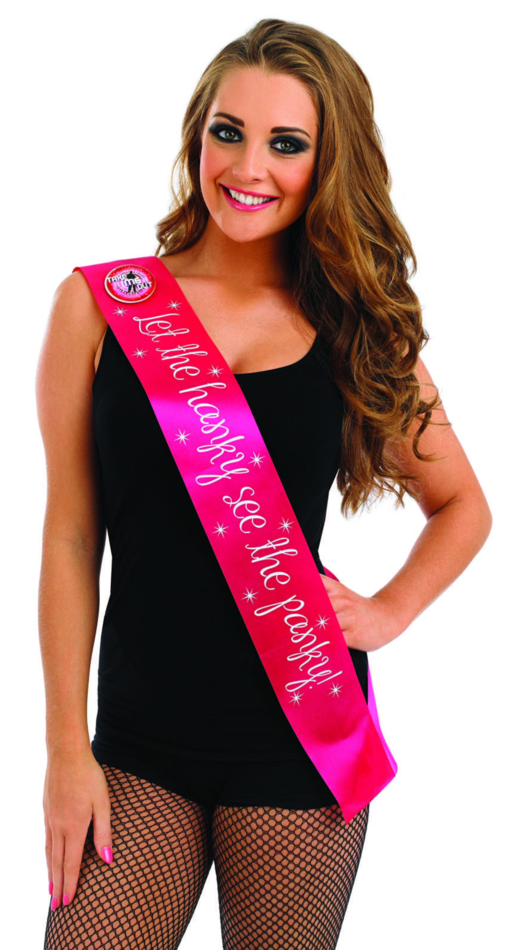 Take Me Out Hen Party Accessory Let The Hanky See The Panky Flashing Sash