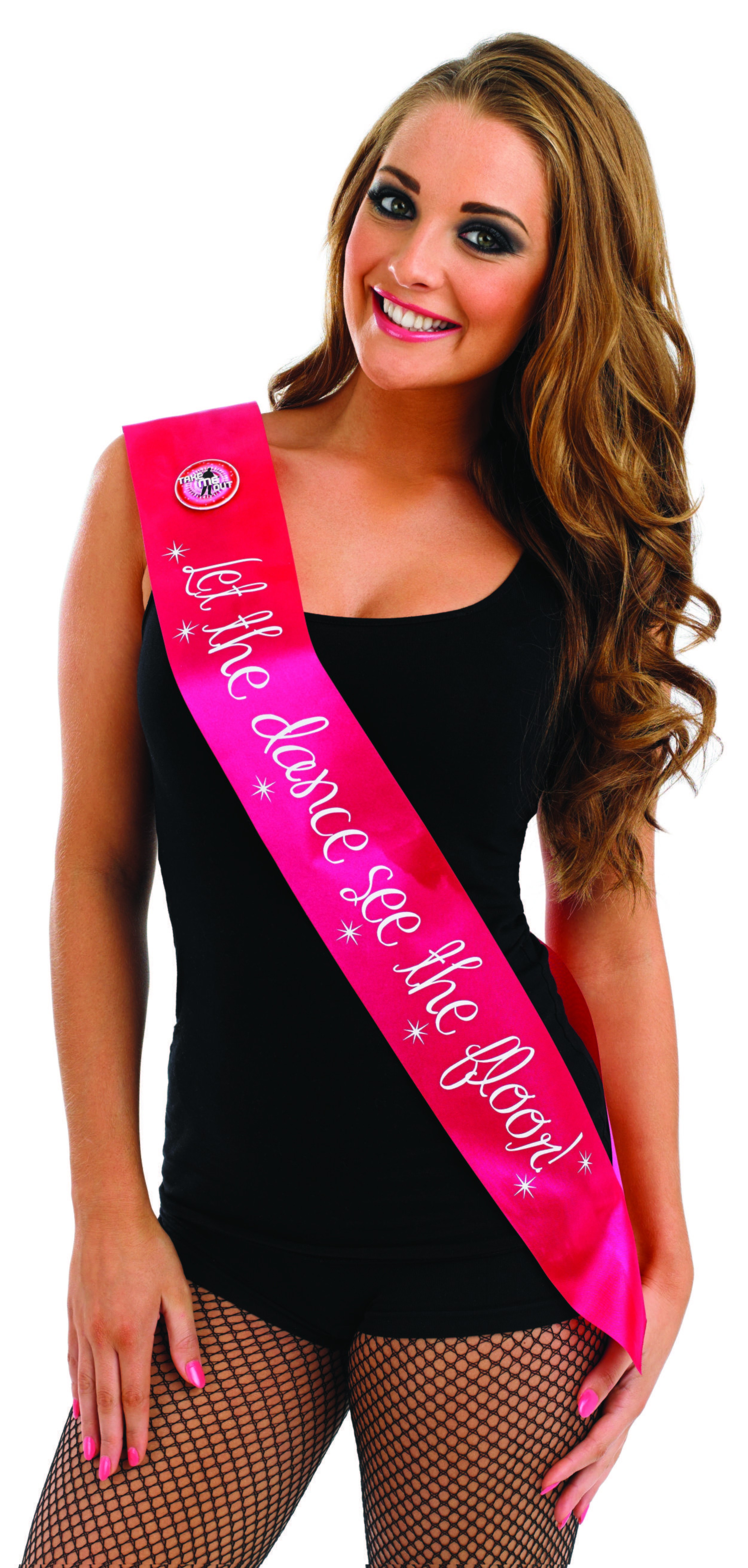 Take Me Out Hen Party Accessory Let The Dance See The Floor Flashing Sash