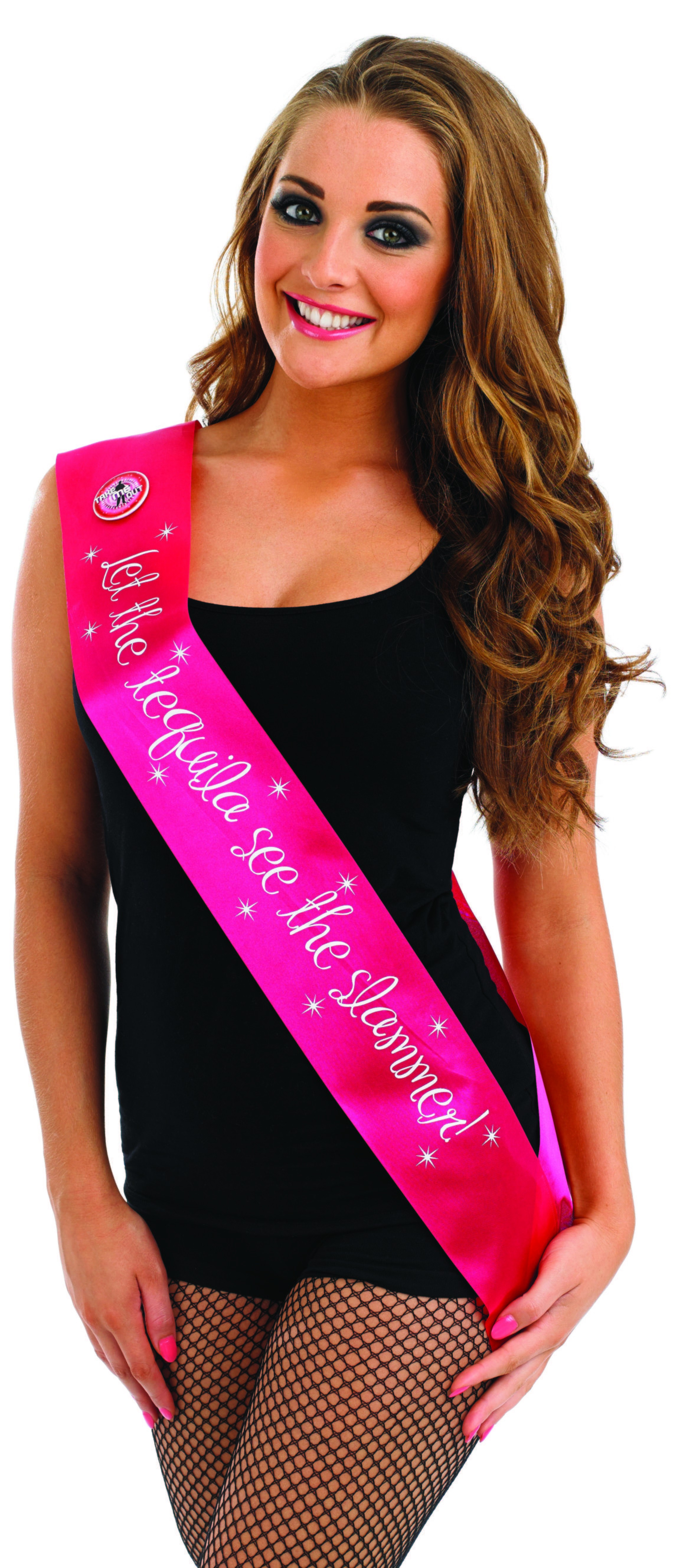 Take Me Out Hen Party Accessory Let The Tequila See The Slammer Flashing Sash