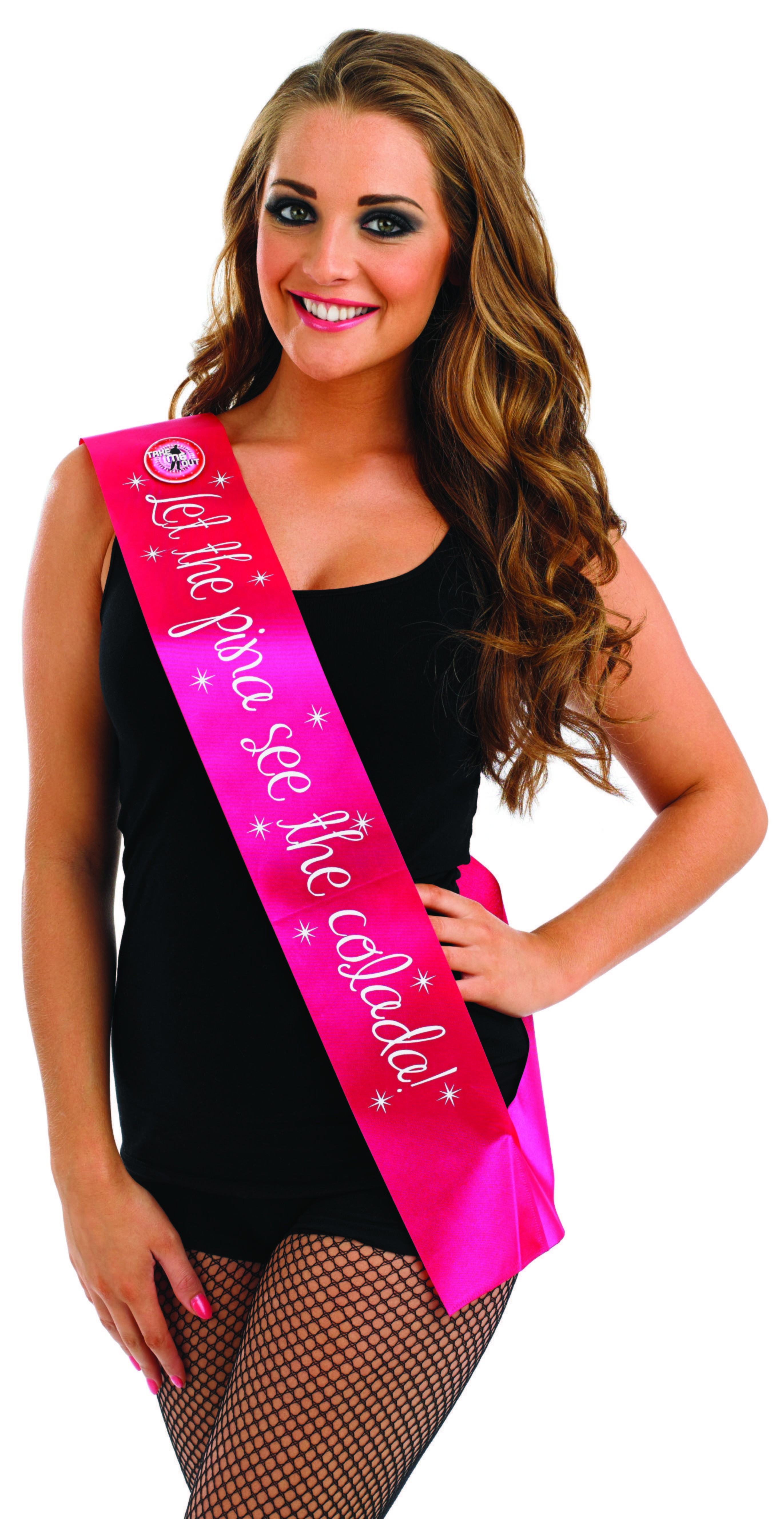 Take Me Out Hen Party Accessory Let The Pina See The Colada Flashing Sash