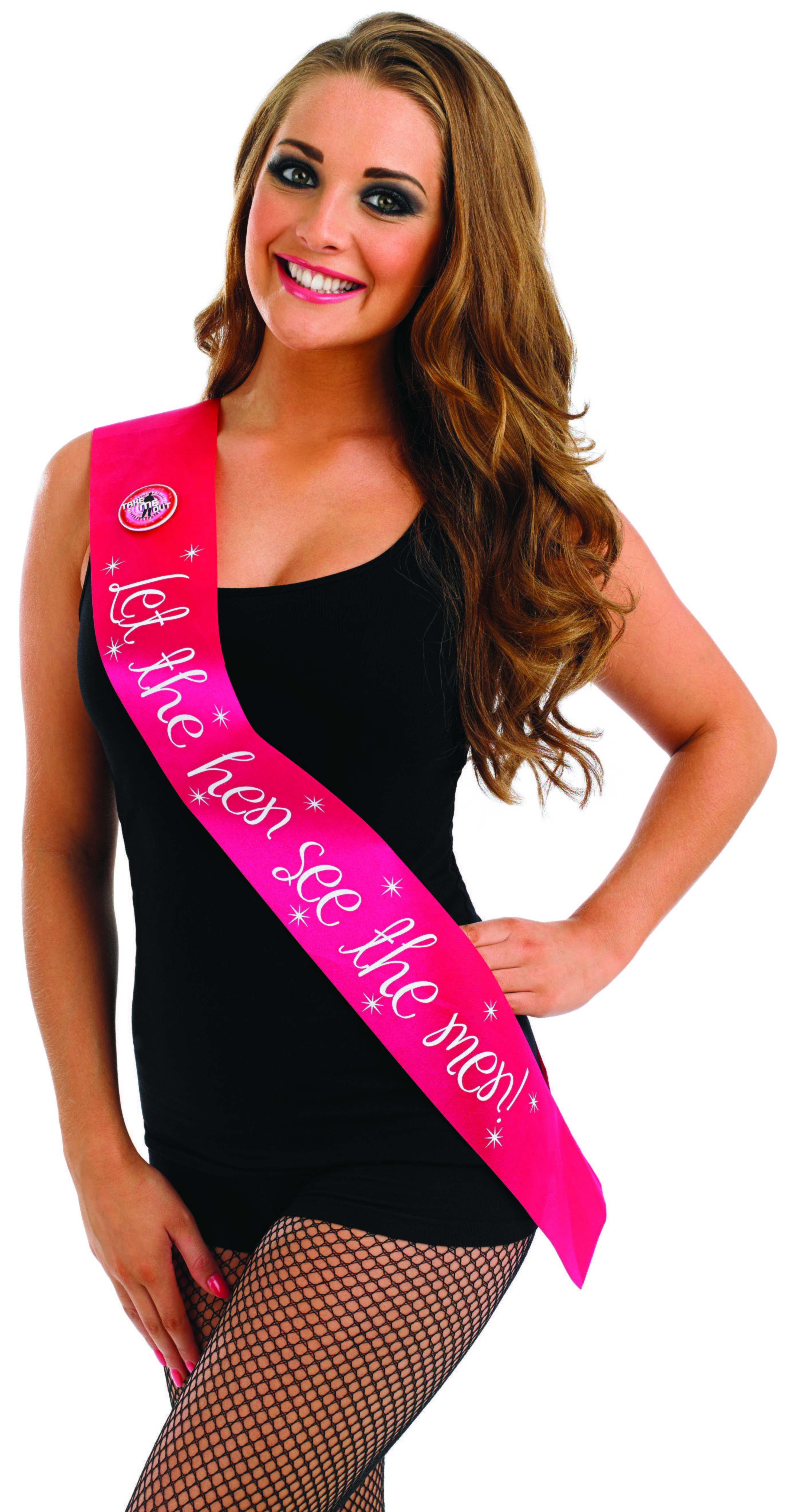 Take Me Out Hen Party Accessory Let The Hen See The Men Flashing Sash