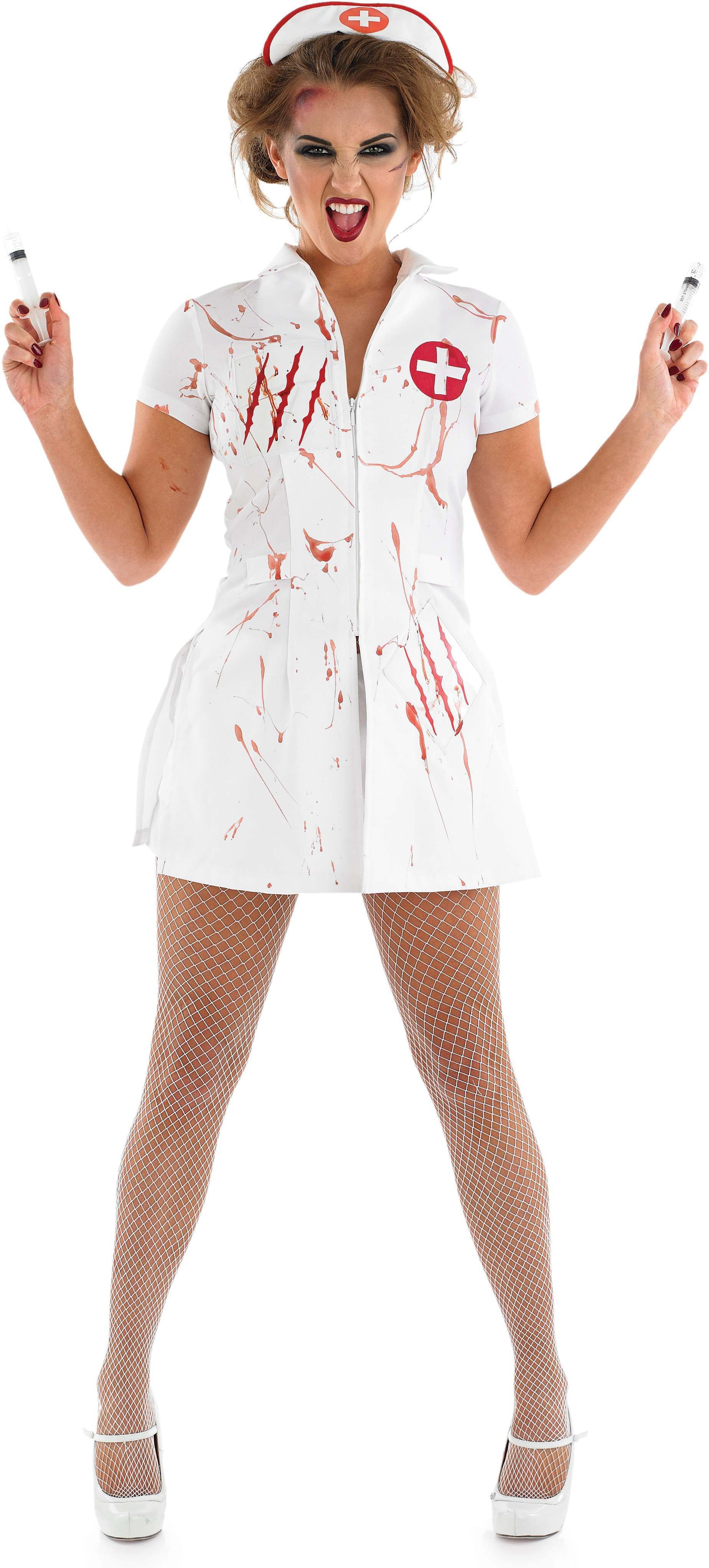 Ladies White (Nurse Nightmare)Fancy Dress Costume