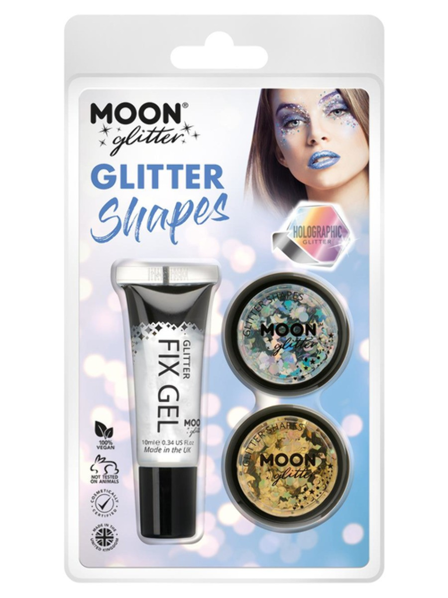 Moon Glitter Holographic Glitter Shapes