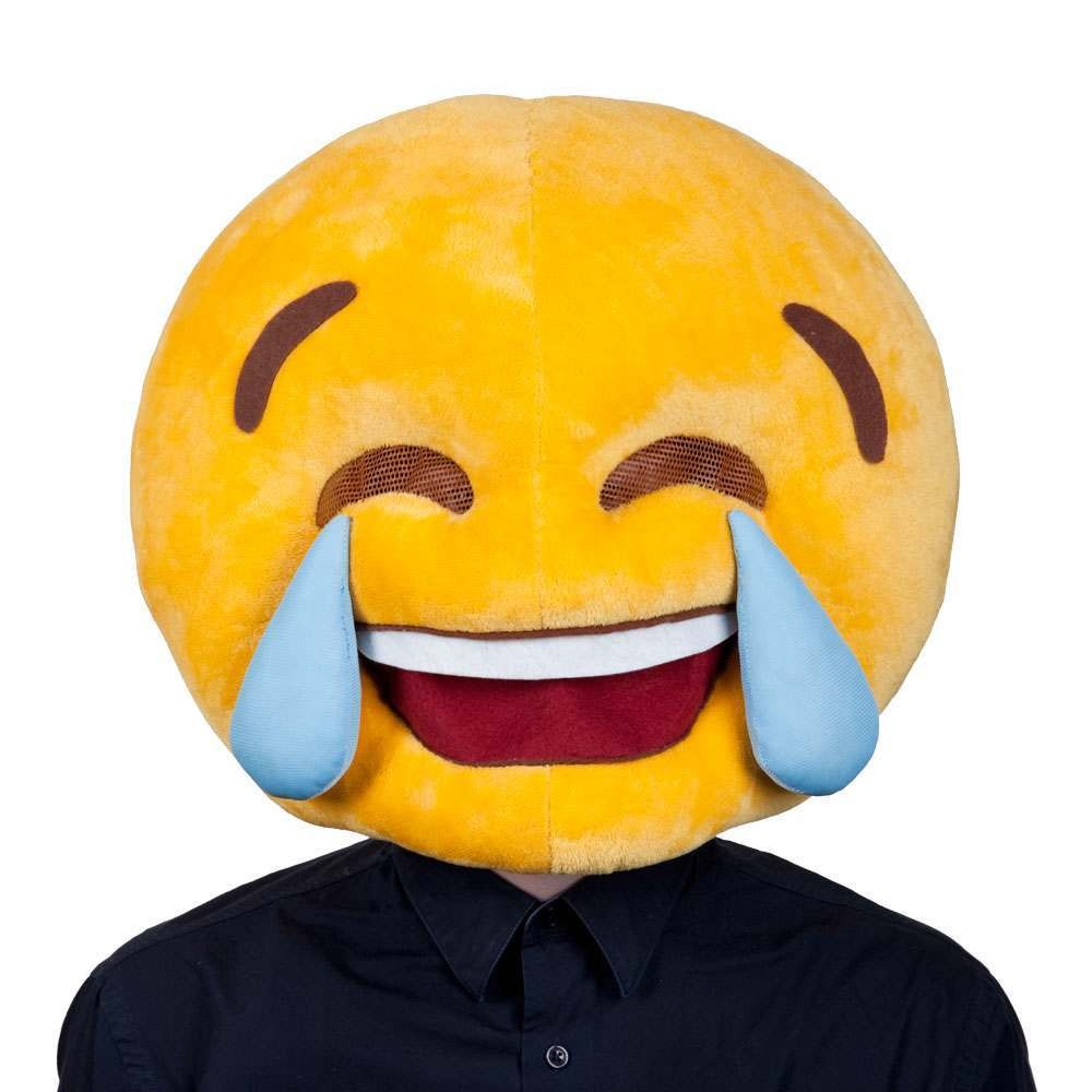 Cry Laughing Head Adult Emoji Masks