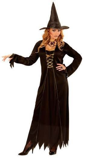 Ladies Black Witch Halloween Fancy Dress Costume