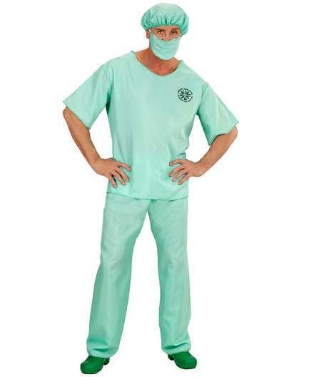 Mens Emergency Room Doctor Fancy Dress Costume