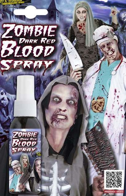 Zombie Dark Red Blood Spray Halloween Accessory
