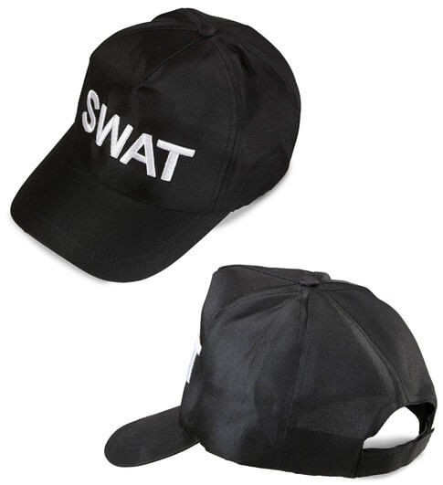 Adult Swat Baseball Cap Fancy Dress Accessory
