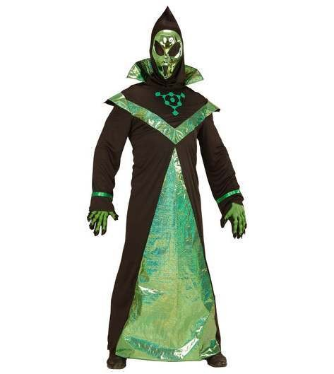 Adult Sci-Fi Alien Lord Fancy Dress Costume