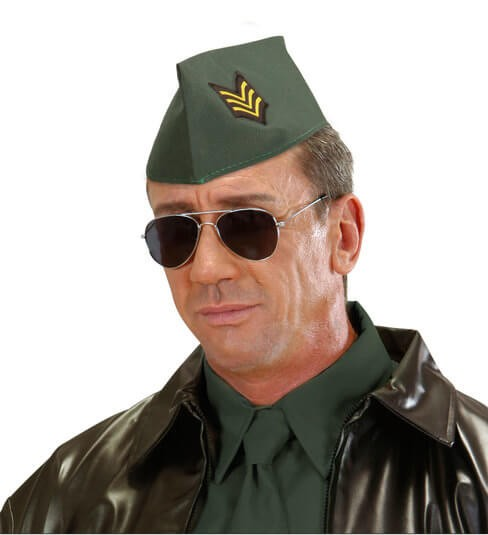 Adult Army Officer Side Cap Fancy Dress Accessory