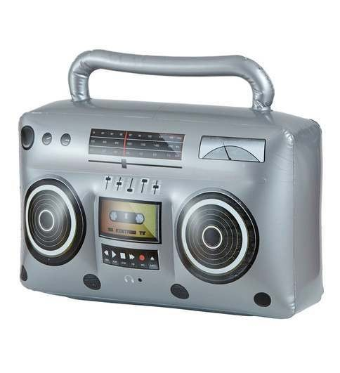 80'S Style Inflatable Ghetto Blaster Fancy Dress Accessory