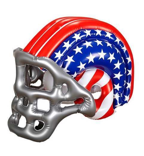 Child Size American Flag Inflatable Football Helmet