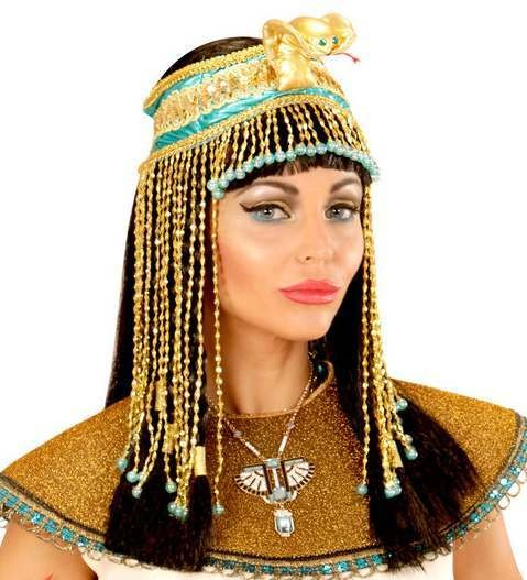 Gold Beaded Egyptian Headpiece Fancy Dress Accessory