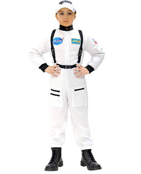 Childs White Astronaut Fancy Dress Costume (Cap Not Included)
