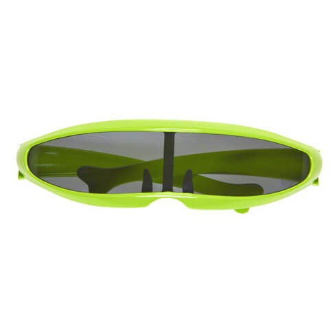 Adult Green Sci-Fi Robot/Cyborg Glasses Fancy Dress Accessory