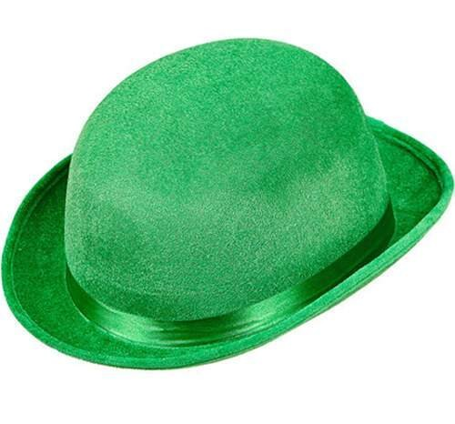Green Adult St Patrick Bowler Hat Fancy Dress Accessory