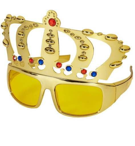 Adult Queen And King Glasses Fancy Dress Accessory