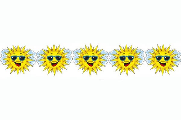 Hawaiian Smiley Sun Garland 3m Fancy Dress Accessory