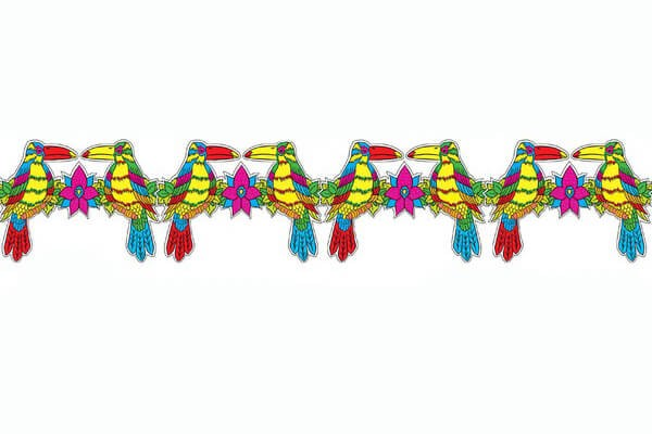 Hawaiian Toucan Garland 3m Fancy Dress Accessory