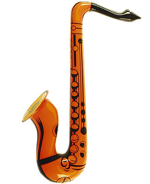 Orange Inflatable Saxophone Fancy Dress Accessory