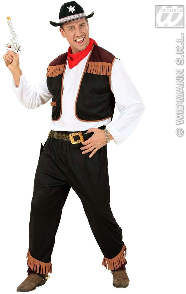 Cowboy Fancy Dress Costume Mens (Cowboys/Indians)