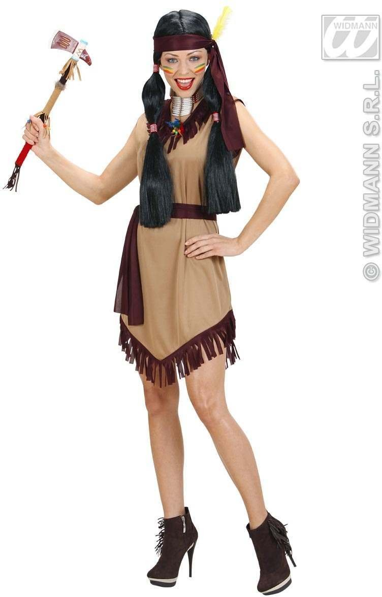 Indian Woman Fancy Dress Costume Ladies (Cowboys/Indians)