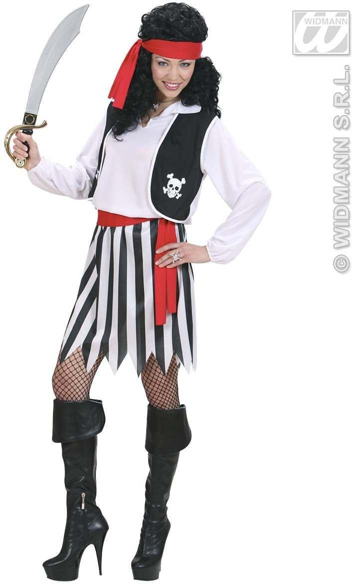 Pirate Woman Fancy Dress Costume Ladies (Pirates)