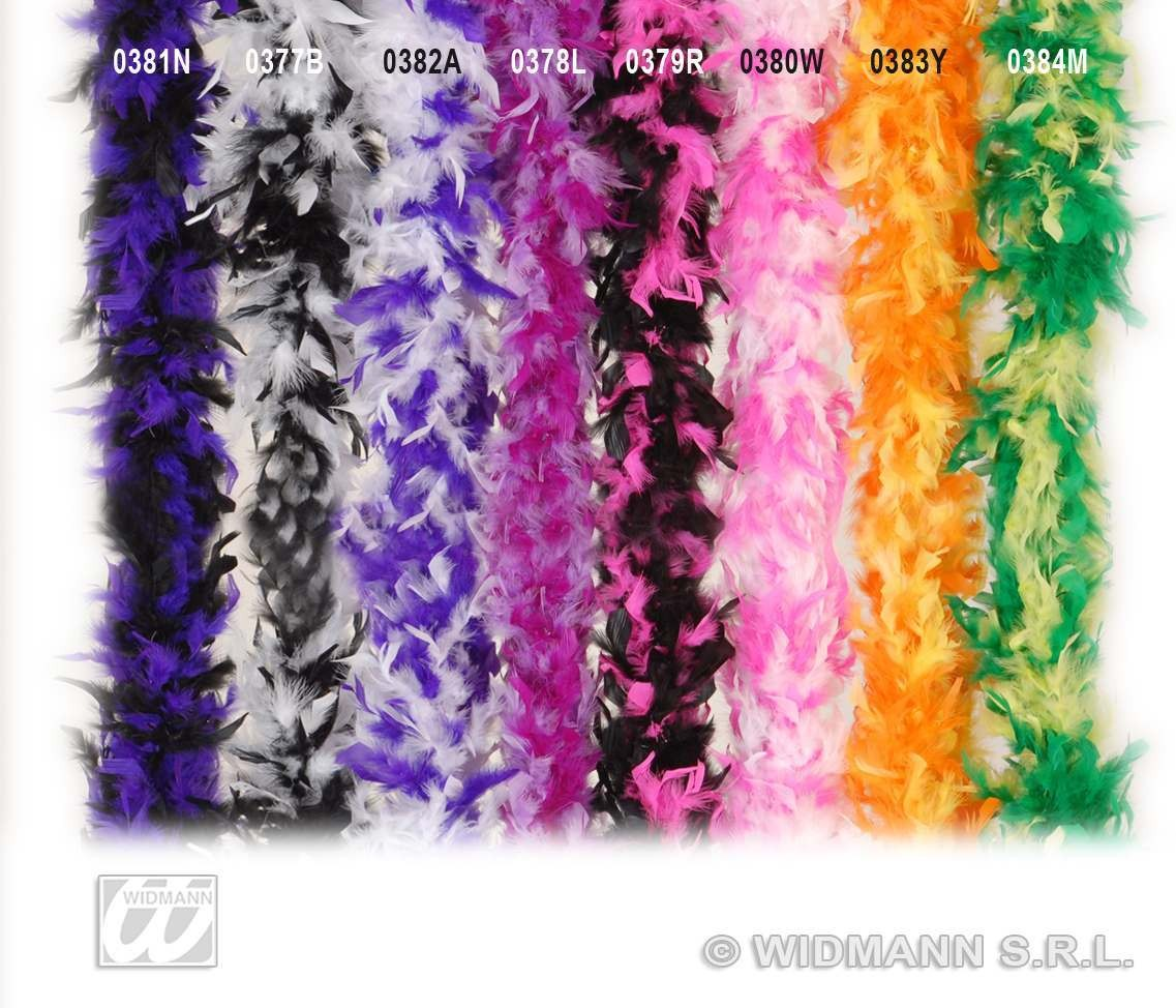 Feather Boa Bicolour 180Cm Pink/Black - Fancy Dress