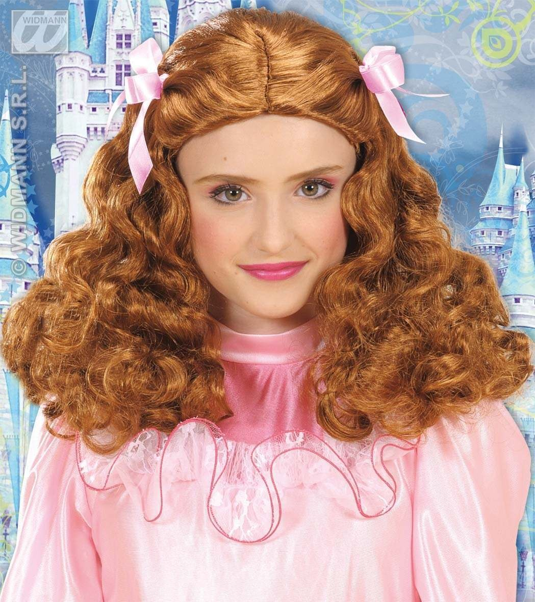 Gracious Princess Wig - Brown - Fancy Dress (Royalty)